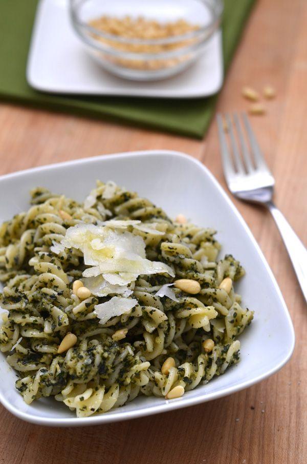 basil pesto with pasta