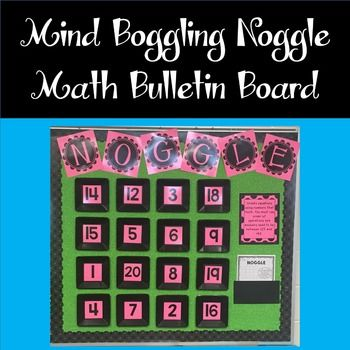 Noggle Interactive Math Mind Boggling Bulletin... by Rulers and Pan Balances | Teachers Pay Teachers