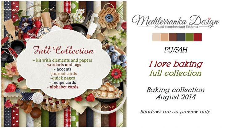 I love baking (Full collection) by Mediterranka Design
