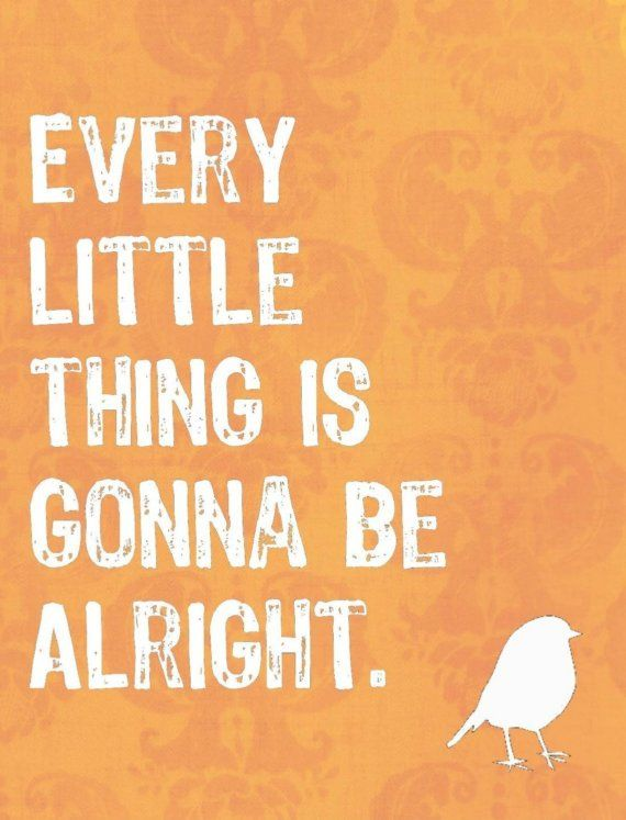 every little thing is gonna be alright. #quote