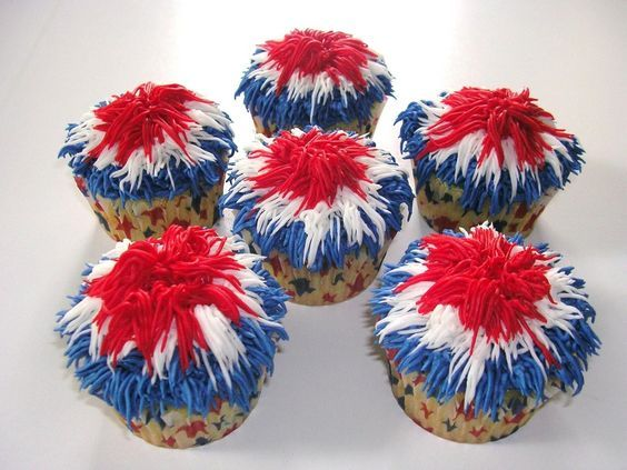 fourth of july ideas | Creative Party Ideas by Cheryl: 4th of July Fireworks Cupcakes