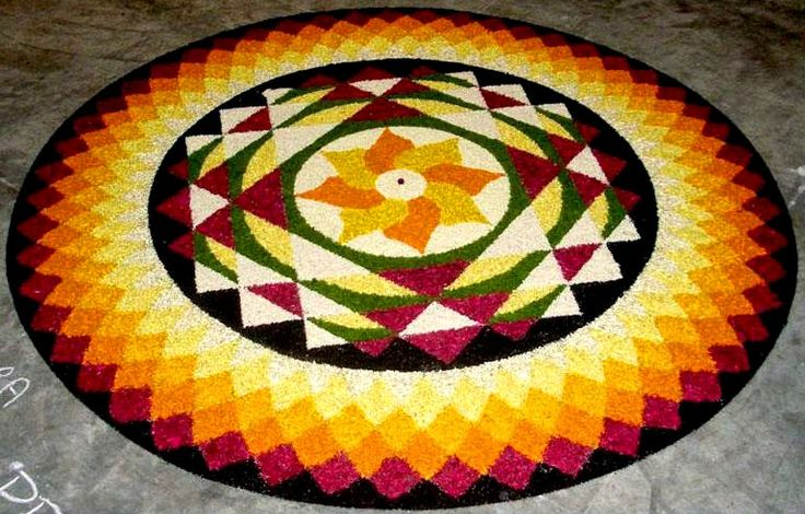 Part 2 - 25 Most Beautiful Pookalam Designs for Onam Festival | Read full article: http://webneel.com/pookalam-designs-onam-2 | more http://webneel.com/drawings | Follow us www.pinterest.com/webneel