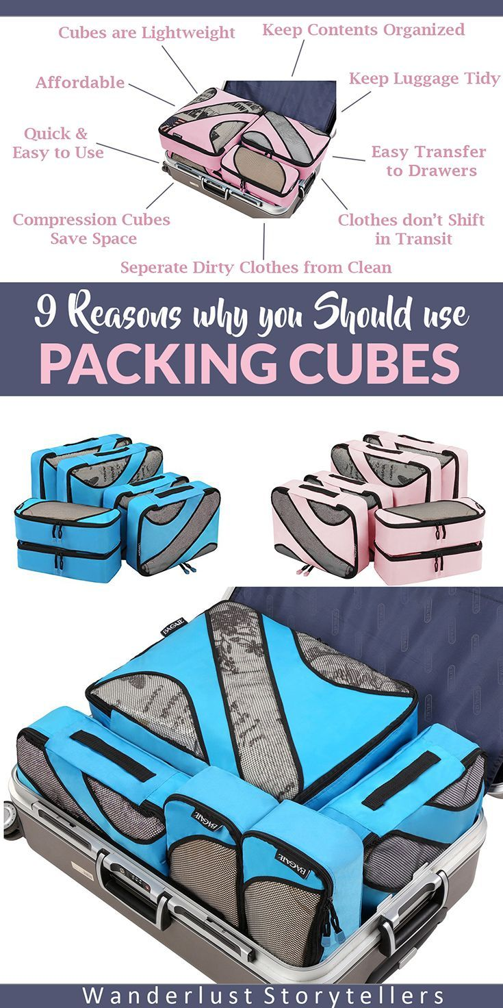 Click to read about why you should use travel packing cubes as your luggage organizer. >>>>>>>>>>>>>>>>>>>>>>>>>>> Travel Storage Bags Best Packing Cube Clothes Pouch How to Pack Packing TIps Carry On Packing Cubes Packing Cubes Backpack How