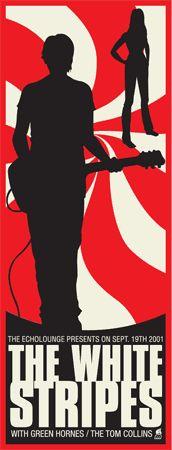 The White Stripes- Gig poster