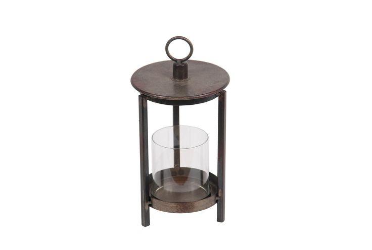 Rustic Brown Lantern Small - Signature