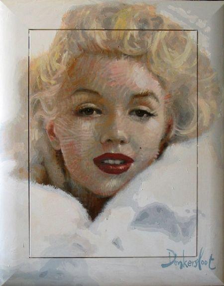 Peter Donkersloot - Marilyn Monroe  120 x 100 cm. www.kunstpakket.nl