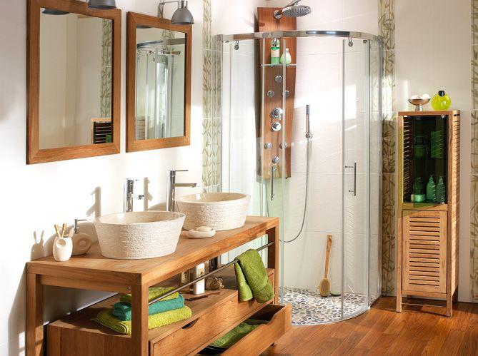 Les 25 meilleures id es concernant salle de bain tropicale sur pinterest fond d 39 cran tropical - Decoratie salle de bain zen bambou ...