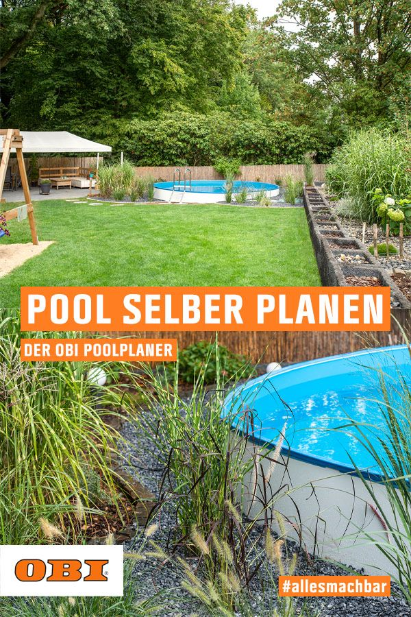 Pool Bauen Gestalten Obi Gartenplaner Landschaftsbau Schwimmbad Designs Diy Pool Ideen