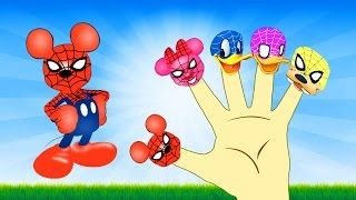 Mickey Mouse Spiderman Finger Family Song - Mickey Mouse Clubhouse Nursery Rhymes Songs for Kids - YouTube