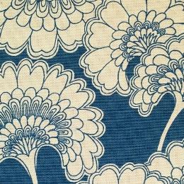 Florence Broadhurst Japanese Floral, storm on hopsack