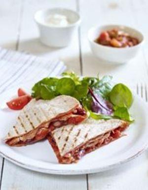Quesadilla med pulled pork og smoky barbeque | www.greteroede.no | www.greteroede.no