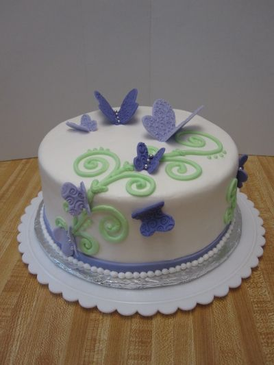 purple butterfly birthday cake By JNettecakes on CakeCentral.com