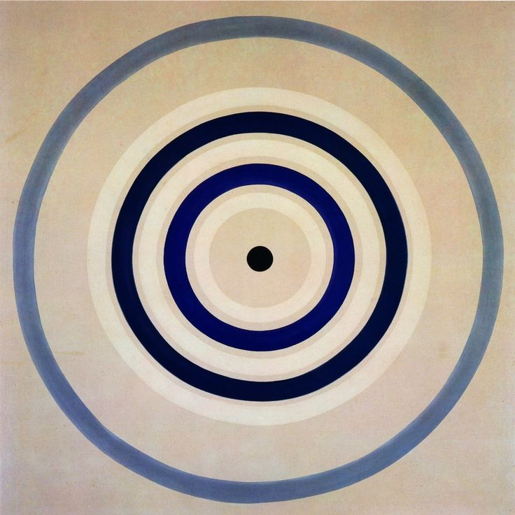 "Kenneth Noland ~ Spring Cool, 1962 (mandala).  invented a new kind of American abstraction based on the primacy of color. It had some of the philosophic underpinnings of Abstract Expressionism, but without the Sturm and Drang. """"Mr. Noland has been consistent and unvarying — not to say single-minded — in his artistic purpose, which has been to fill the canvas surface with a pictorial experience of pure color."""