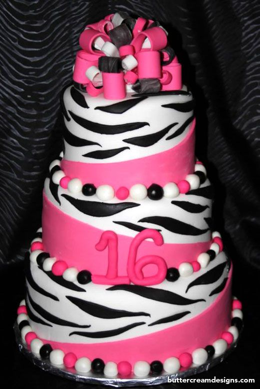 Zebra cake ideas: Sweet 16 Cakes, Zebras Cakes, Cakes Ideas, Pink Zebras, 1St Birthday Cakes, Sweet16, Zebra Cakes, Zebras Birthday, Sweet Cakes