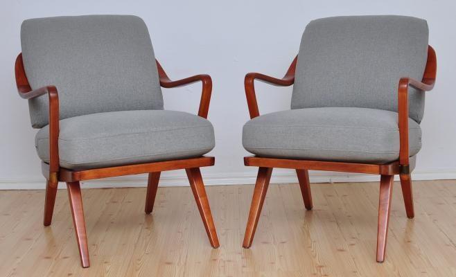 Sessel von Walter Knoll/ Wilhelm Knoll, 1950er, 2 Set 1