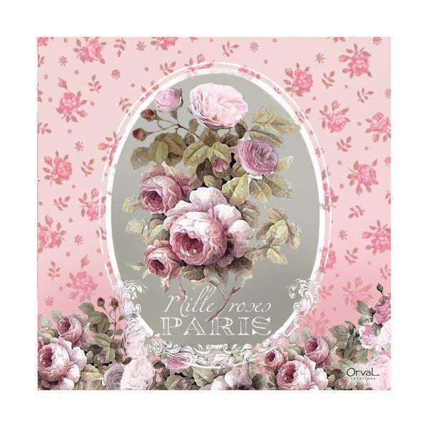 Serviettes de table Mille roses Orval Créations