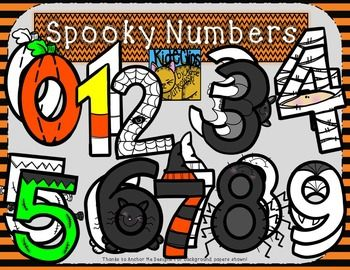 Halloween Spooky Number Clip Art by Kid-E-Clips Personal ...