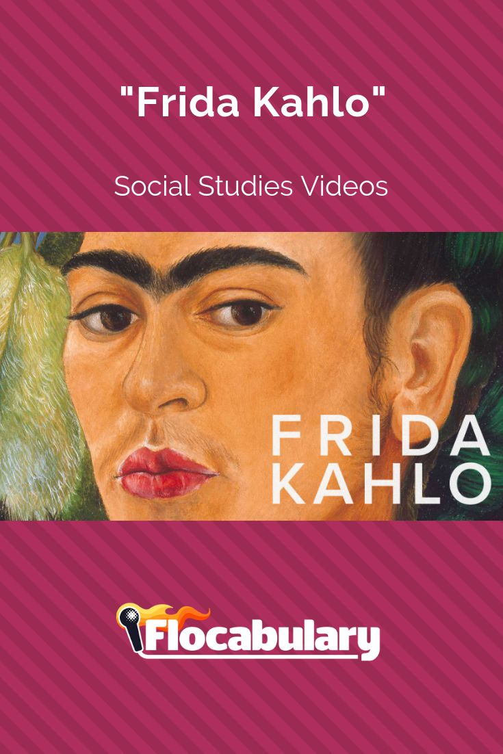 The Mexican artist Frida Kahlo is wellknown for self