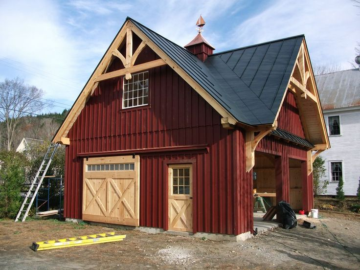 Best 25 timber frame garage ideas on pinterest timber for Post and beam carriage house plans