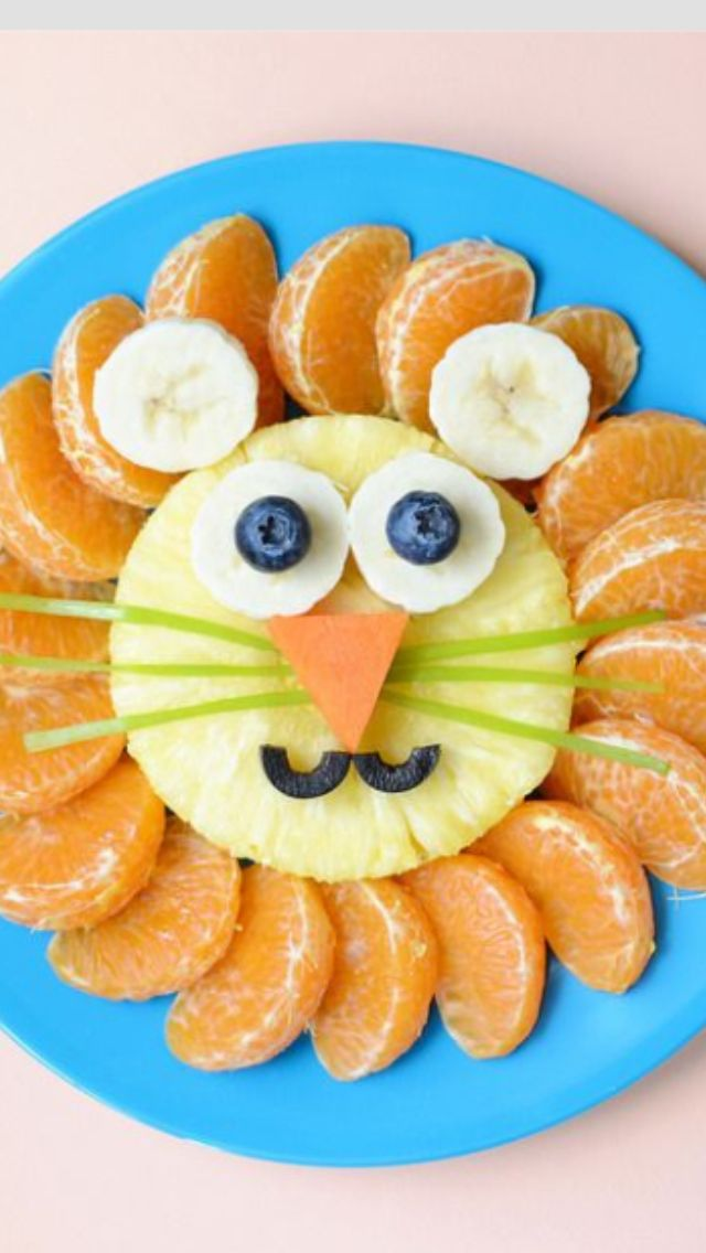 fun fruit lion platter
