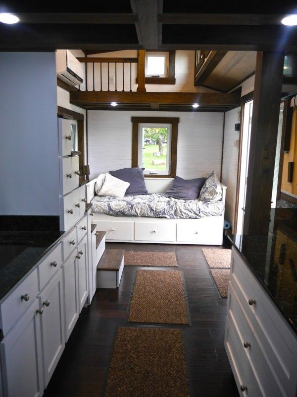 Tiny House Chattanooga 003 Fantastic finishes, storage and bath in this house!