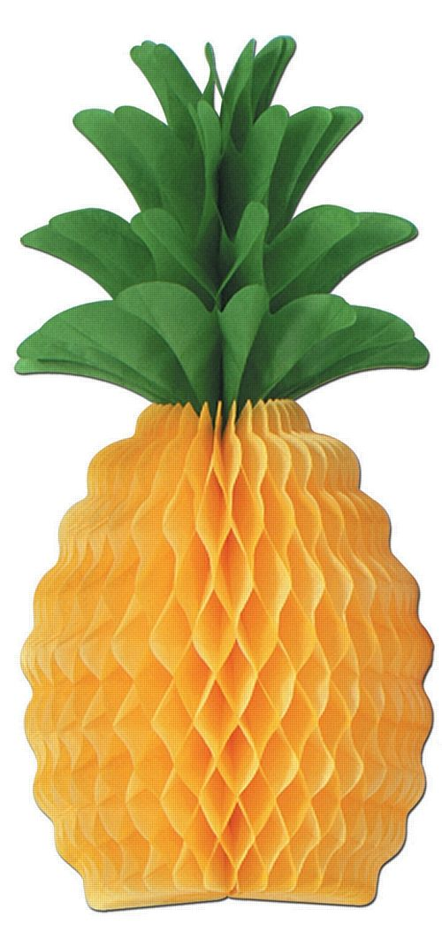 Tissue Pineapple - 30.5cm - Pack of 2. Ideas for Brazilian Rio 2016 party to celebrate the Summer Olympic games in Rio 2016, Brazil. With Brazilian Rio themed party food, Olympic party decorations, Rio carnival style fancy dress and other Rio themed Olympic games inspiration.