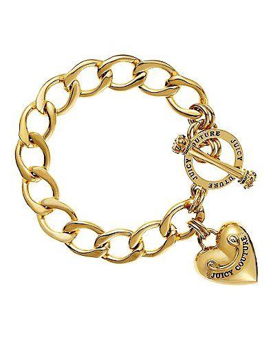 Heart Charm Bracelet - #Accesorios #Moda #juicycouture
