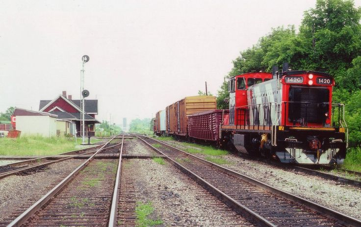 On a steamy hot July day I stopped by Merritton yard to see what was happening. Nothing. The air is thick, no breeze, and not the kind of day I wanted to hang around sweating. And besides, in the distance one can see the Welland Canal bridge is in the up position. Nice to see CN 1420 resting between jobs on the siding as perhaps the crew had taken a break for lunch; and because of that, I wandered down to the tracks for a photo. Glad I did. The 1420 is long gone from the area and the…