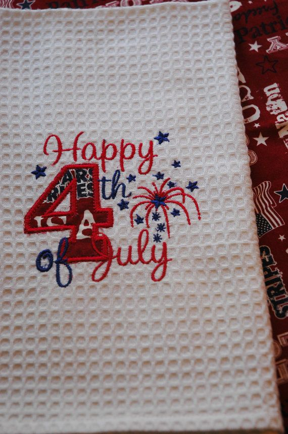 fourth of july kitchen towels