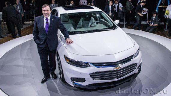 Дебют Chevrolet Malibu 2016 (Шевроле Малибу 2016) на Нью Йоркском автосалоне