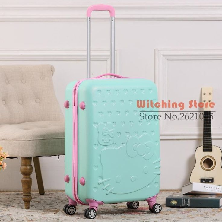 (81.20$)  Watch now - http://aitov.worlditems.win/all/product.php?id=32749409172 - 20 INCH  2024# HelloKitty trolley travel board box cartoon of male and female students 20 24 #EC FREE SHIPPING