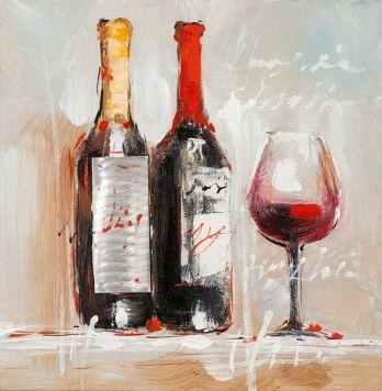Schilderij 25x25 Wijnfles https://www.schilderijenshop.com