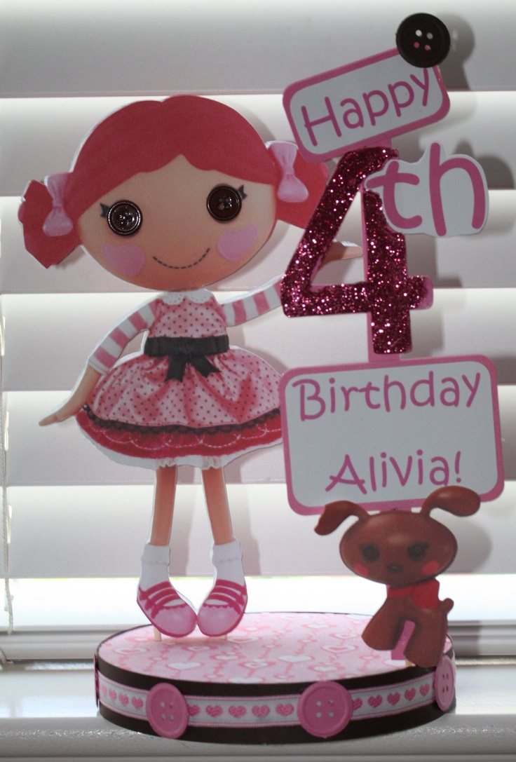 Lalaloopsy Birthday Party Toffee Cocoa Cuddles Custom Centerpiece.