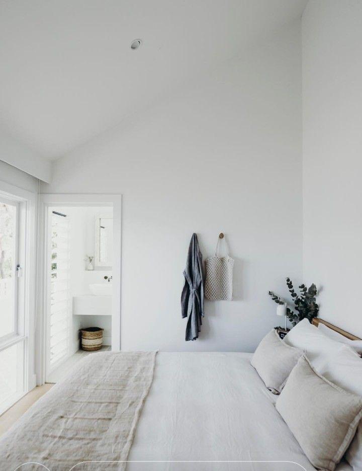 Quite walls, white trim, simple, minimalist, room,…