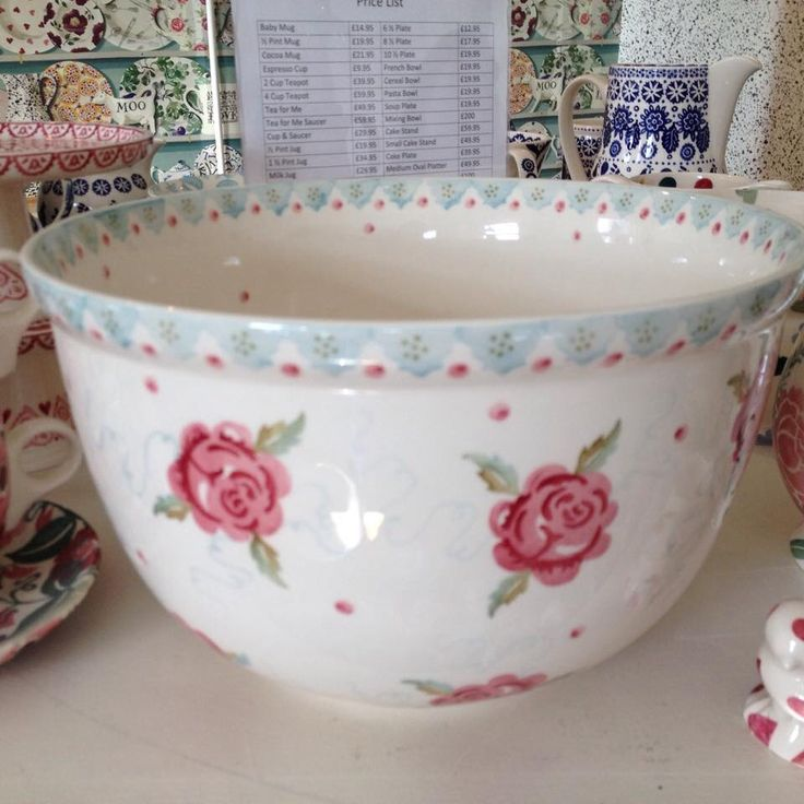 Emma Bridgewater Rose & Bee SAMPLE Mixing Bowl for the Collectors Event Sample Sale (24.09.14)