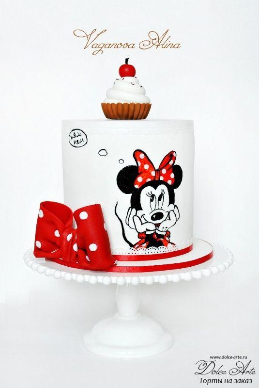 Тортик с мини маус | Dolce Arte - торты на заказ. Печенье ручной работы. Капкейки, маффины, десерты, макарун. СПб.
