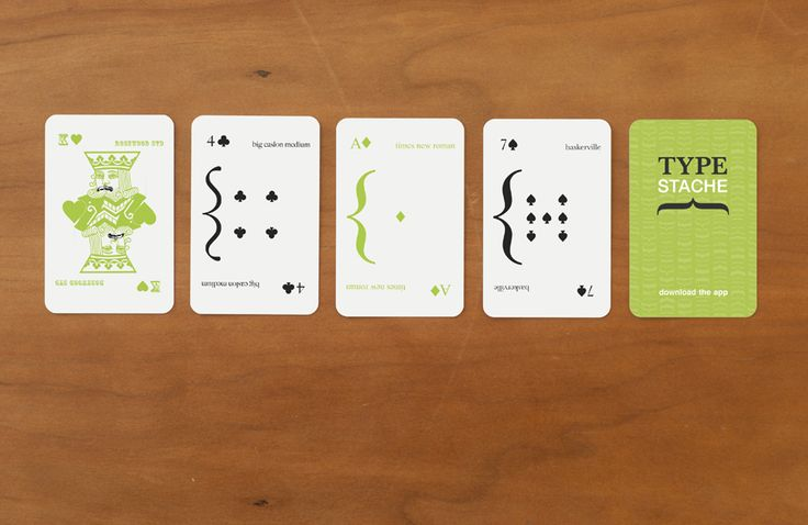 Typestache Playing Cards