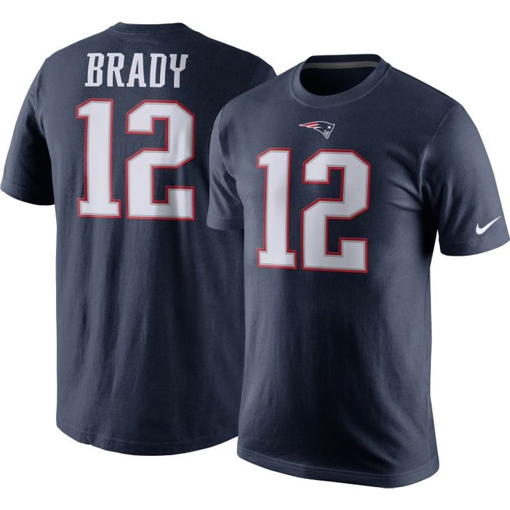 Nike Men's New England Tom Brady #12 Pride Navy T-Shirt, Size: XL, Team