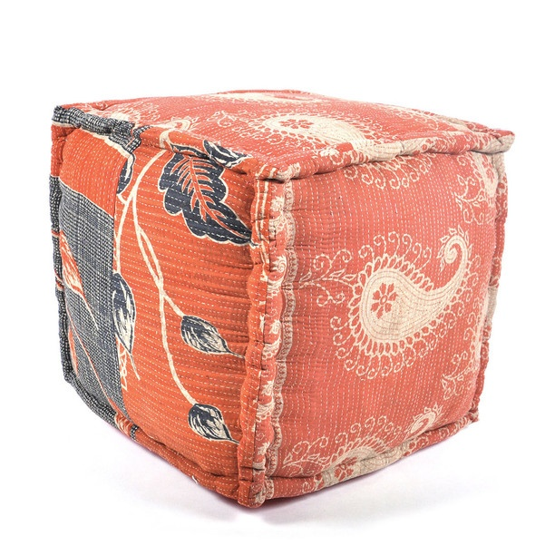 Chandani Kantha Pouf furniture, ottoman, multi