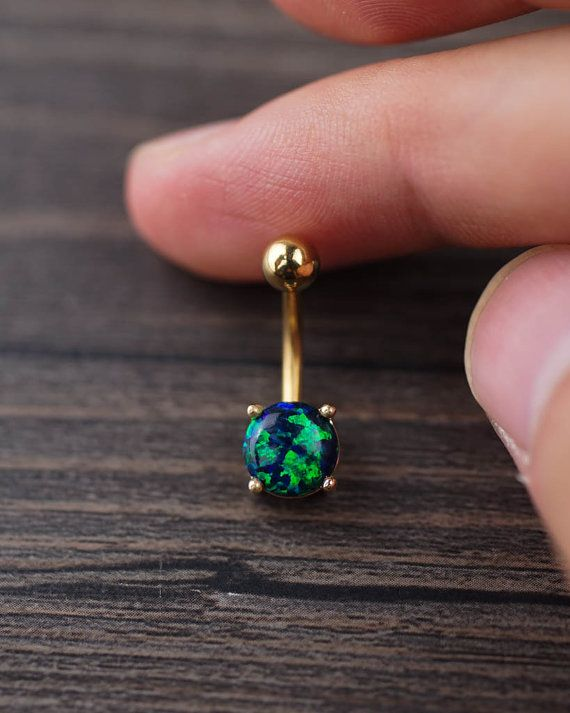 Bar length is 10mm(3/8).  The diameter of the ball is 8mm (0.315inch).  This belly button ring is made of SURGICAL STEEL, nickel free.  14 gauge post,