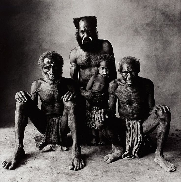 Father, son, Grandfather and Great Grandfather, photo by Irving Penn, New Guinea, 1970