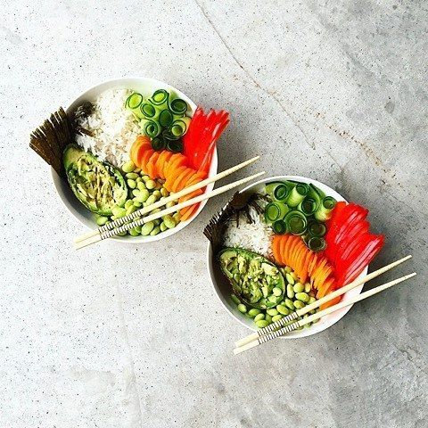 I'm trying to pin it to win it Check out these Sushi Bowls recreated by Kitchen of Amelia on the 8-Week Program. – I Quit Sugar