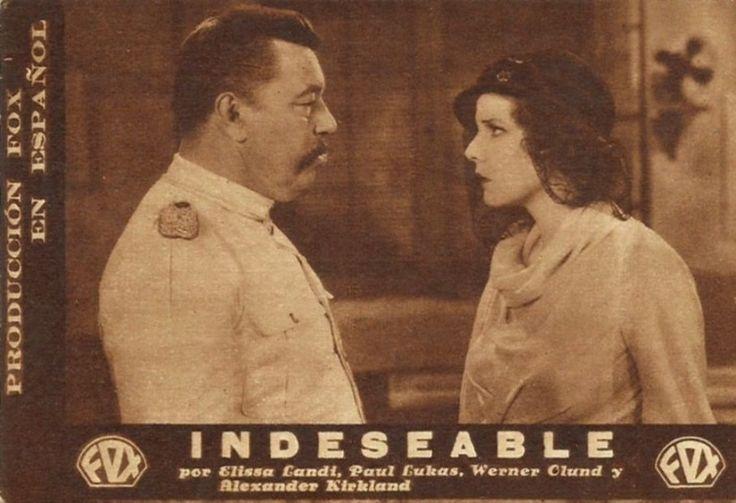 """Indeseable  (1932) """"A Passport to Hell"""" de Frank Lloyd - tt0023323"""