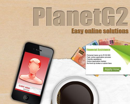Web Design - PlanetG2 an Interactive web design that consists only of a main image with multiple links.