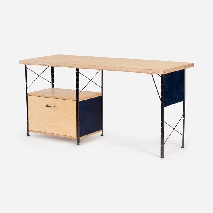 Case Study® Desk w/ Drawer and Fiberglass Panels