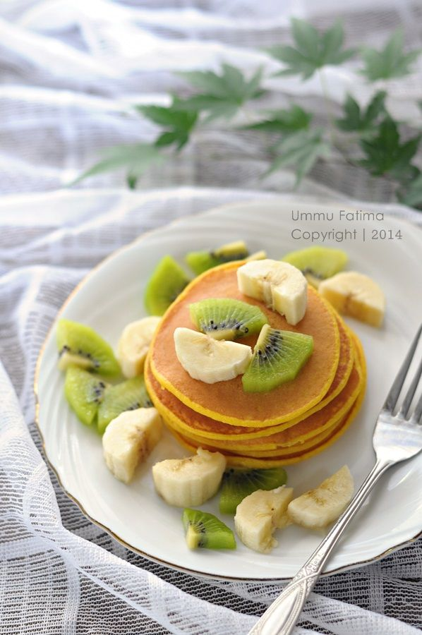 Pumpkin Pancake, Kabocha Pancake, Pancake Labu Kuning