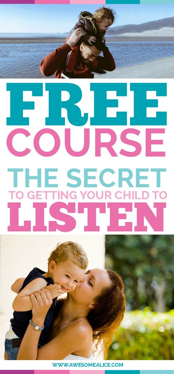 Free email course: the secret to getting your child to listen. Can't get your child to pay attention to you? Here's the solution. Click to sign up for the free parenting course.