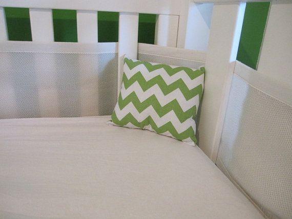 Baby Nursery Crib Cot Cushion Chevron via Etsy