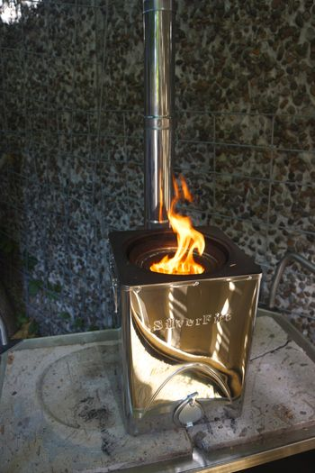 Silverfire Hunter Wood Burning Camp Stove Outdoor Wood