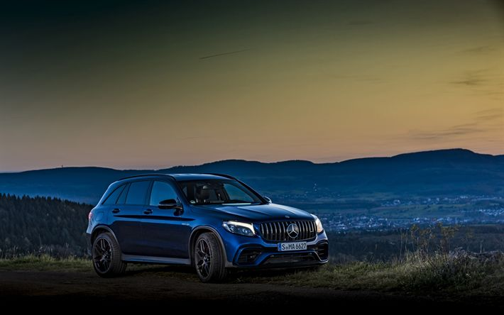 Download wallpapers Mercedes-AMG GLC 63 S, 4k, tuning, 2018 cars, SUVs, GLC63, Mercedes